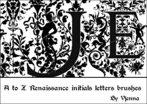 Renaissance Letter Of Credit Renaissance Letters Brushes By Visualjenna On Deviantart