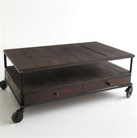 industrial look coffee table wisteria industrial coffee table look 4 less