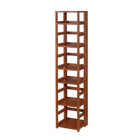 Niche Flip Flop Cherry 6 Shelf Square Folding Bookcase Folding Bookshelves
