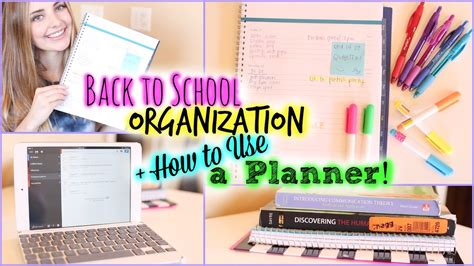 organization tips for school school organization study tips how to use a planner