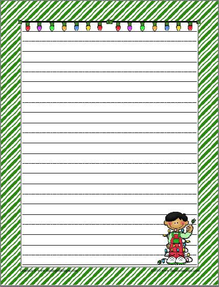 themed writing paper template printable border paper pole new calendar