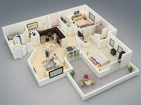 home design 3d ideas 25 more 2 bedroom 3d floor plans