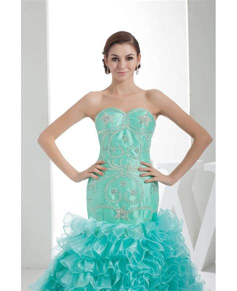 jade color dresses jade sequined sweetheart cascading ruffles color wedding