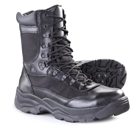 8 rocky fort boots with side zipper 384057 combat
