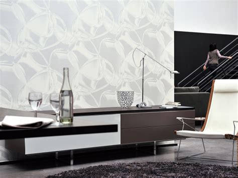 MOTIF VINYL WALLPAPER CHROME VISA COLLECTION BY ELITIS