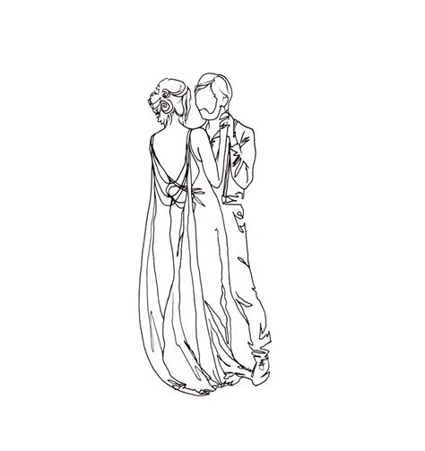 Hochzeit Zeichnung by Personalised Special Event Drawing By Lines