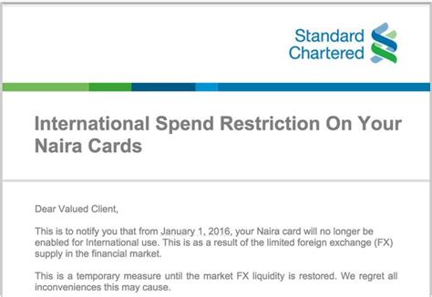Gift Card For International Use - naira cards to be disabled for international use from jan 1st 2016 business nigeria