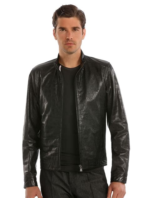 Jaket Hondie Guees guess marciano leather jacket in black for lyst