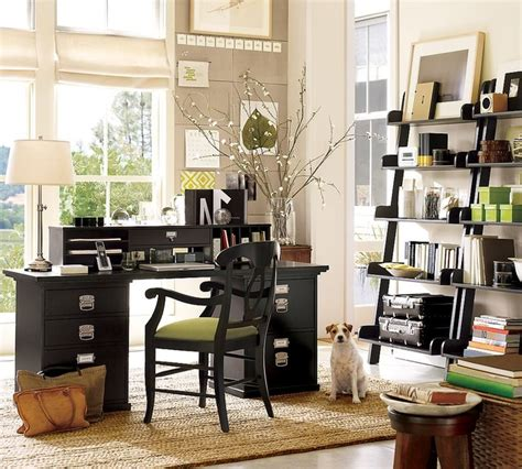bright airy modern home office