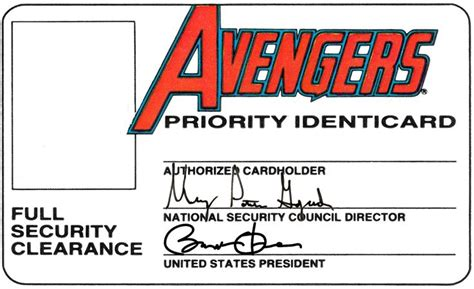 marvel birthday card template 26 best images about dyi id cards you can put