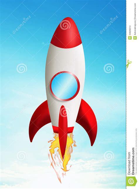 Raket Z raket het opstijgen stock illustratie afbeelding
