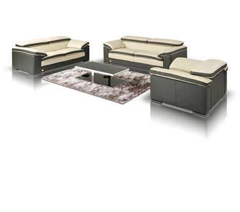 two sofa set dreamfurniture com samoa modern two tone leather sofa set