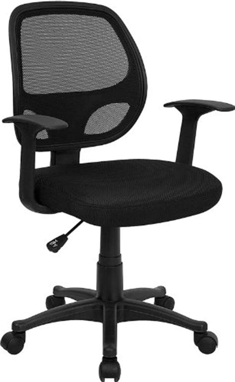 buy flash furniture mid back black mesh computer chair