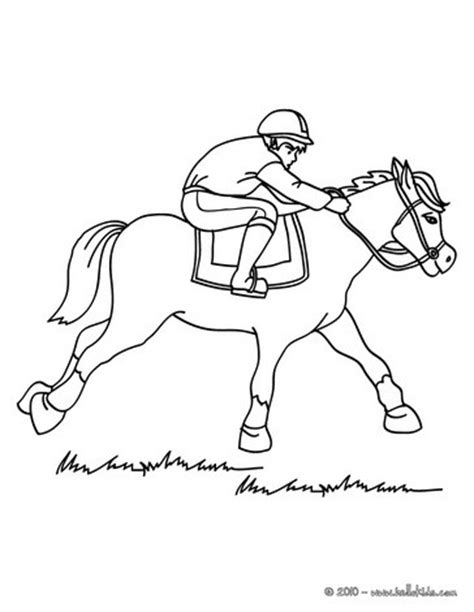 horse race coloring pages easy coloring pages of horses