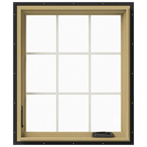 Jeld Wen Aluminum Clad Wood Windows Decor Jeld Wen 30 In X 36 In W 2500 Left Casement Aluminum Clad Wood Window Thdjw140100429