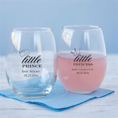 Personalized Baby Shower Decorations by Personalized 9 Oz Baby Shower Stemless Wine Glass