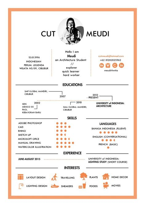 Resume Templates For Architecture Students 25 Unique Cv Template Student Ideas On Resume Ideas Resume Tips And Resume Skills