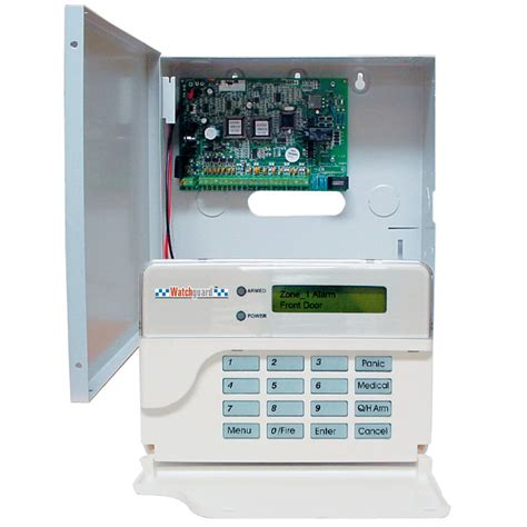 sms8 watchguard professional 8 zone alarm panel lcd