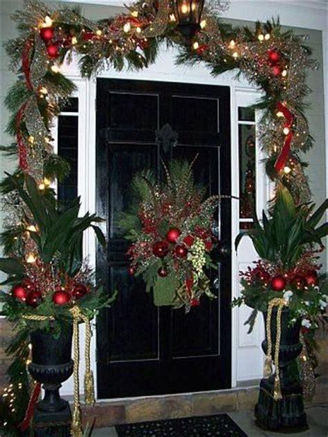 Front Door With Garland Around It Decorating And House Garland Around Front Door