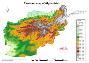 afghanistan elevation map afghanistan mappery
