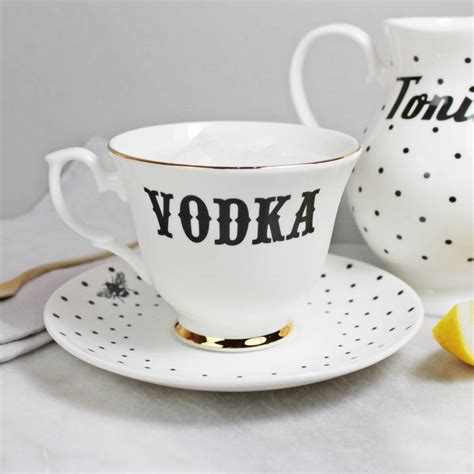 vodka tonic vodka and tonic tea set by yvonne ellen