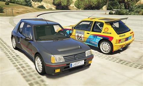 peugeot 205 rally peugeot 205 turbo 16 2 cars pack add on tuning
