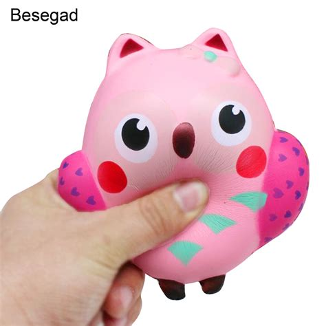 squishy toys besegad rising squishy owl shape relieves stress