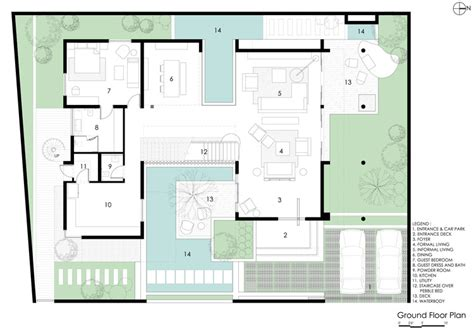 studio pool house floor plans viewing gallery 2 bedroom courtyard house abin design studio archdaily