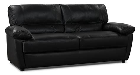 Tess Genuine Leather Sofa Black The Brick Real Leather Sofa