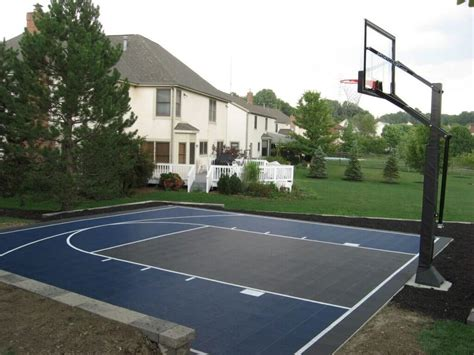 backyard basketball court cost backyard basketball court surfaces best backyard