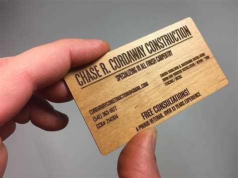woodwork business wood business cards laser engraved starting at 1 30 each