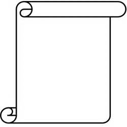 free scroll template blank scroll template clipart best