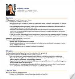 cv sample professional