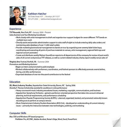 Resume Template It Professional Sle Resume Professional Resume Format 2017