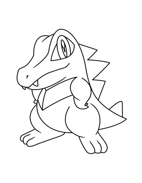 pokemon coloring pages totodile pokemon advanced coloring pages