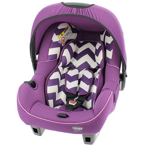 buy obaby 0 infant car seat zigzag purple