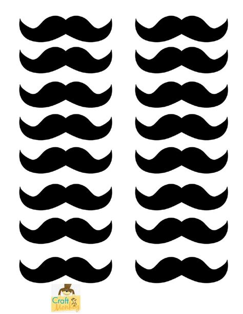 moustache template templates printables pinterest