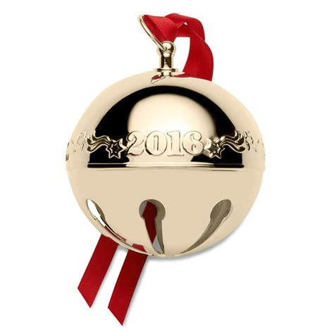 wallace gold sleigh bell ornament 2016 wallace christmas