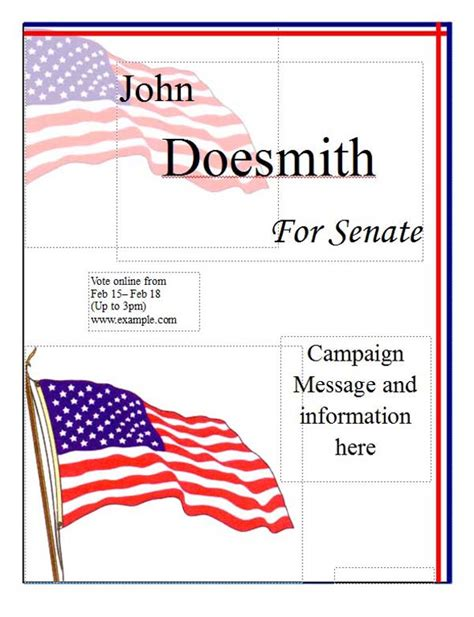 Political Caign Poster Template Microsoft Word Templates Election Poster Template