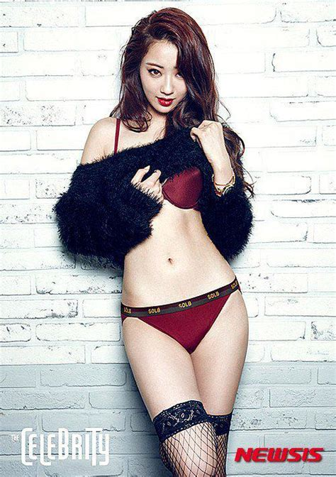 hyuna is as sexy as ever in recent photo shoot soompi 9muses kyungri poses in lingerie for new photoshoot