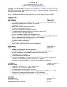 Plant Accountant Sle Resume by Accountants Resume Sales Accountant Lewesmr