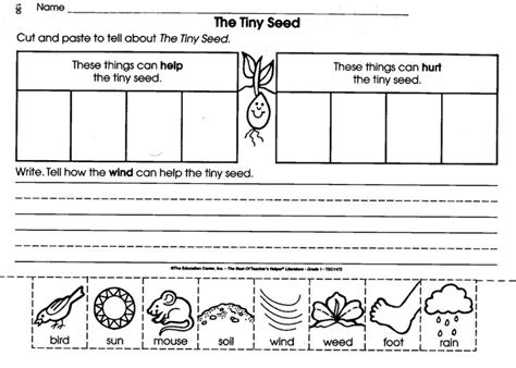 Seed Worksheets For Kindergarten by Worksheet Unit Study Seeds The O Jays