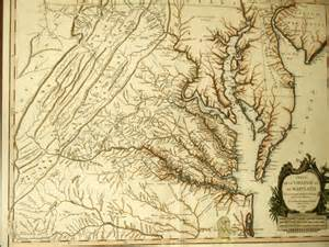 Colonial Virginia Map by Map Of Colonial Virginia And Maryland Photo Brian