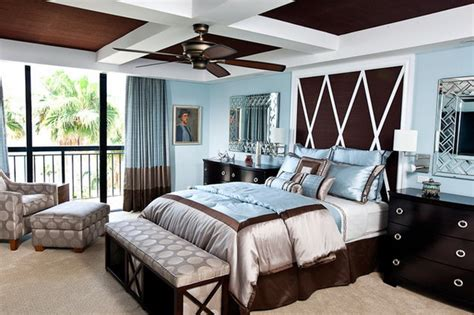 blue white and brown bedroom ideas brown and blue interior color schemes for an earthy and