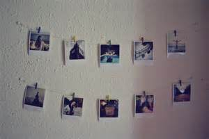 on wall polaroid wall