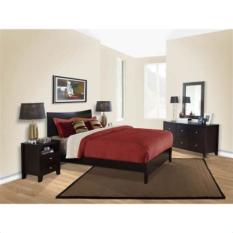 lifestyle bedroom set lifestyle solutions canova 5 piece queen bedroom set in