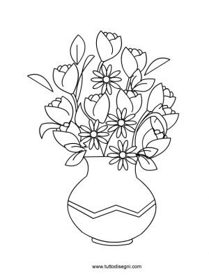 vaso con fiori disegno di vaso con fiori tuttodisegni