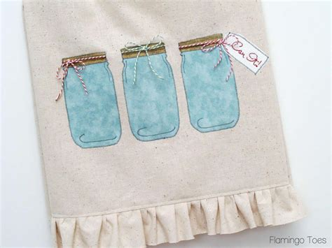 Machine Embroidery Designs For Kitchen Towels mason jar embroidery design 5 vintage chic looks