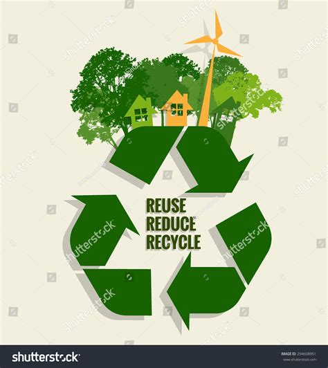 Eco Friendly Ecology Concept Tree Background Stock Vector 294608951 Shutterstock Green Eco Tree Vector Free