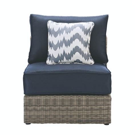 patio sectional cushions home decorators collection naples all weather grey wicker